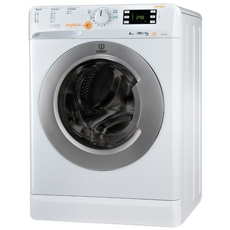 Пералня със сушилня Indesit Innex XWDE 961480X, 1400 об/мин, Пране 9 кг, Сушене 6 кг, Клас A, 16 Програми, Бяла