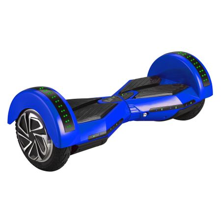 """Ел. ховърборд 2Drive, Гуми 8"""", Автономия 15 км, Скорост 10 км/ч, Мощност на мотора 700W (2 x 350), Bluetooth, Говорители, Чанта за транспортиране, Син"""