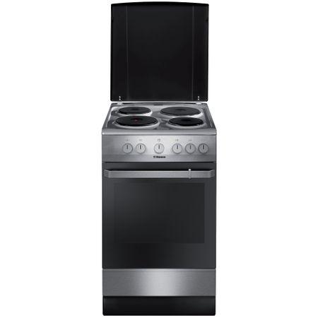 Електрическа готварска печка Hansa FCEX54110, 4 Нагревателни зони, Инокс