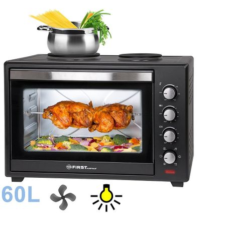 Готварска печка FIRST FA-5045-5, 2 котлона, 60 литра
