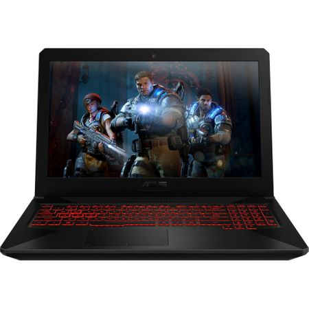 "Лаптоп Gaming ASUS TUF FX504GM-E4065 с процесор Intel® Core™ i7-8750H до 4.10 GHz, Coffee Lake, 15.6"", Full HD, 8 GB, 1 TB Hybrid HDD, NVIDIA GeForce GTX 1060 6 GB, Free DOS, Black"