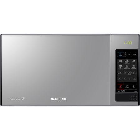 Микровълнова фурна Samsung GE83X, 23 л, 800 W, Функция грил, Огледално-черна