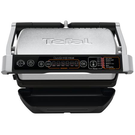 Електрическа скара Tefal OptiGrill+ GC706D34, 2000 W, 6 автоматични програми, Функция размразяване, Инокс/Черна