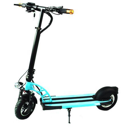 Електрическа тротинетка 2Drive, 10-инчови колела, Автономия до 20 км, Максимална скорост 25 км/ч, Батерия LG 7.8 Ah, Синя