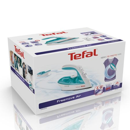 Ютия Tefal Freemove Air FV6520E0, 2400W, Резервоар за вода 0.25 л, Вградена система против варовик, Ръчно регулиране, Бяла
