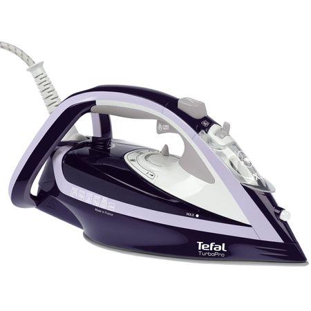 Ютия Tefal Turbo Pro FV5615E0, 2600W, 200 гр/мин, Плоча Autoclean Airglide, 300 мл, Синя