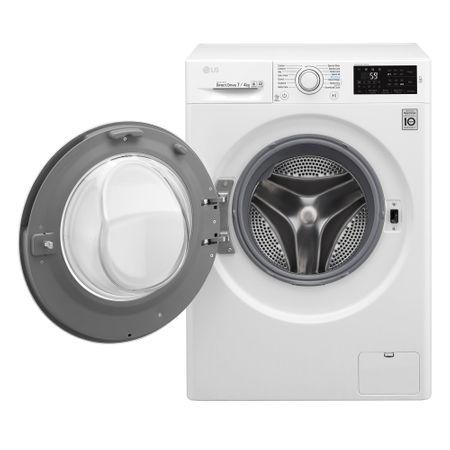 Пералня със сушилня Slim LG F2J6HM0W, 1200 об/мин, 7 кг пране/4 кг сушене, Inverter Direct Drive, 6 Motion, Smart Diagnosis, NFC, 45 см, Клас B, Бяла