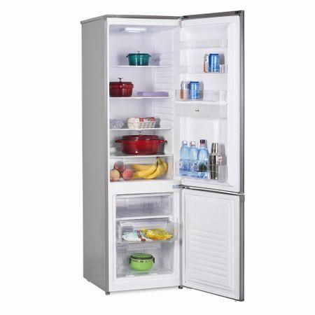 Хладилник с фризер Heinner HC-H273XWD+ 267 л, Диспенсър за вода, Клас A+, H 176 см, Inox