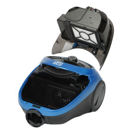 Прахосмукачка без торба Star-Light ACVC-815BB, 1.5 л, Телескопична тръба, 800 W, Регулируема мощност, HEPA филтър, Синя/Черна