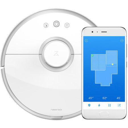 Робот прахосмукачка Xiaomi Roborock 2, Li-ion батерия, Моп, Автономия 2 часа, Wi Fi, Бяла