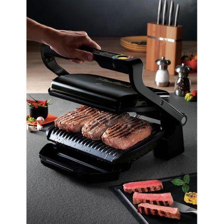 Електрическа скара TEFAL OptiGrill+ Snacking & Baking, 2000W, 6 програми за автоматично приготвяне, Автоматичен сензор за готвене, Свалящи се плочи, Черна