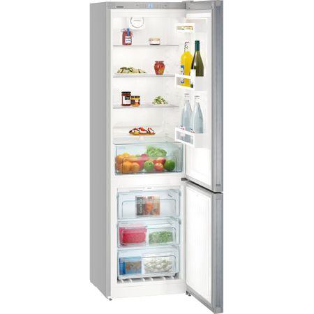 Хладилник с фризер Liebherr Confort DNml 48X13, 338 л, Клас A++, NoFrost, H 201.1 cм, Inox