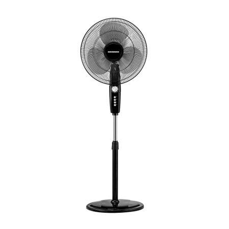 Вентилатор със стойка Heinner HXSF-163BK, 55W, 40 см диаметър, Таймер, Осцилираща функция, 3 степени на скорост, Черен