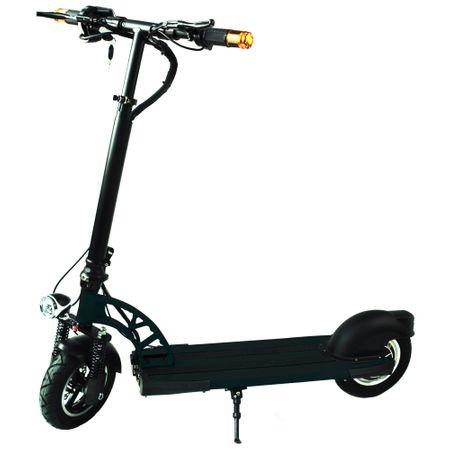 Електрическа тротинетка скутер 2Drive, 10-инчови колела, Автономия до 20 км, Максимална скорост 25 км/ч, Батерия LG 7.8 Ah, Черна