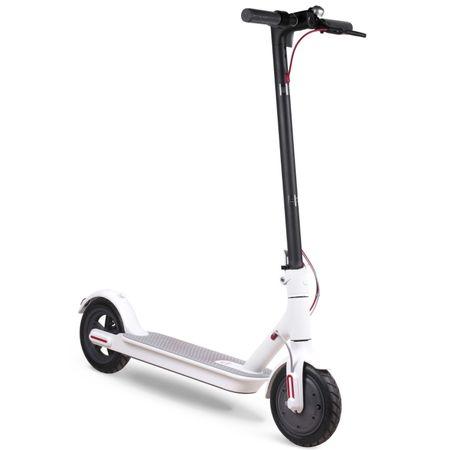 "Електрическа тротинетка скутер Xiaomi Mijia, Скорост 25 км/ч, Автономия 30 км, Колела 8.5"", Време за зареждане 5 ч, Две резервни гуми, Бяла"