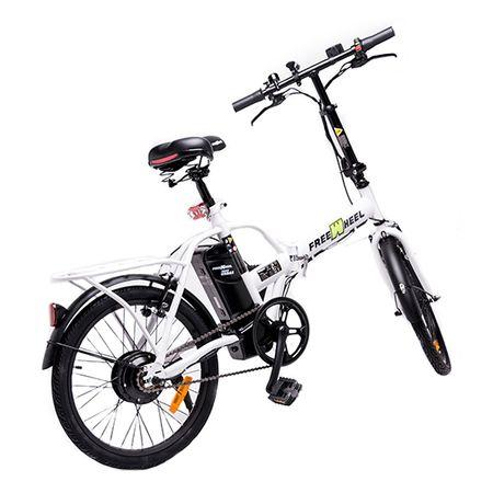 """Електрически велосипед Freewheel Ebike Urban, Скорост 25 км/ч, Автономия 20-25 км, Мотор 250W, Колела 20"""", Сгъваем, Бял"""