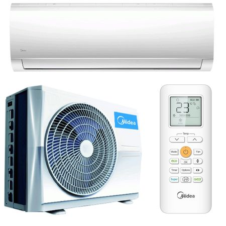 Климатик Midea Blanc R32, 12000BTU, Клас A++, Wi-Fi контрол, iECO режим