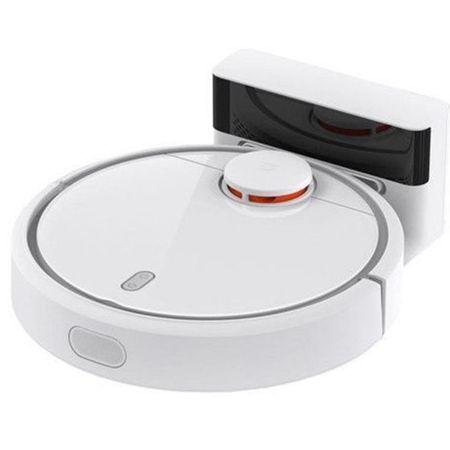 Робот прахосмукачка Xiaomi Mi Robot Vacuum, 50 W, 5200 mAh, 14.4 V, App, Smart Vision Mapping, Бяла