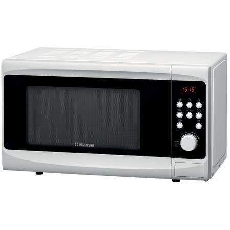 Микровълнова фурна Hansa AMG20E70GVH, 20 л, 700 W, Дигитален дисплей, Функция Грил, Бяла