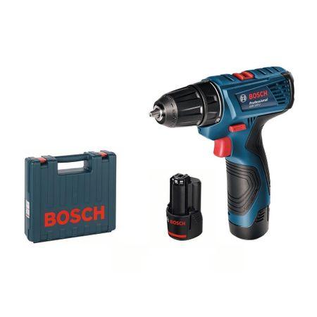 Акумулаторна бормашина Bosch Professional GSR 120-Li, 12 V, 30 Nm + 2 акумулатора + зарядно устройство + куфар за транспортиране