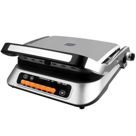 Електрическа скара Star-Light DGD-2107SS, 2100W, 6 програми за автоматично готвене, Автоматичен сензор за готовност, Инокс