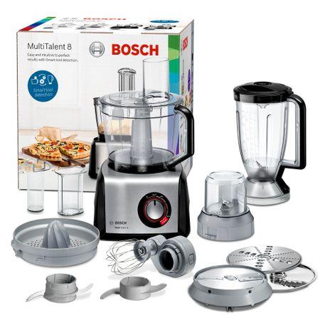 Кухненски робот Bosch MC812M844, 1250 W, 3.9 л, 50 функции, Селектор за промяна на скоростта, Сив