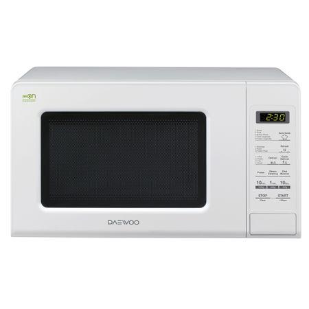 Микровълнова фурна Daewoo KOR-6M1BW, 20 л, 800 W, Дигитална, Бяла