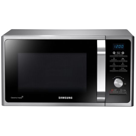 Микровълнова фурна Samsung MG23F301TAS, 23 л, 800 W, Функция грил, Дигитална, Сребриста