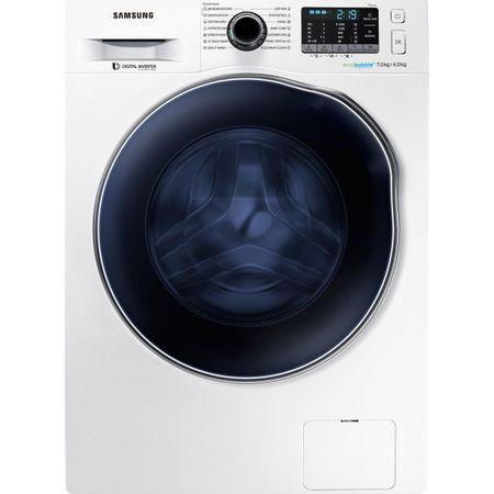 Пералня със сушилня Samsung, WD70J5A10AW/LE, 1400 об/мин, 7 кг изпиране, 4 кг сушене, Eco Bubble, Дигитален инверторен мотор, Клас A, Бяла