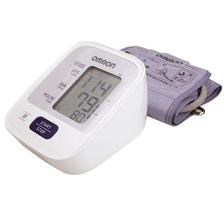 Апарат за измерване на кръвно налягане Omron M2, Teхнология Intellisense, Клинично валидиран, Бял/Сив