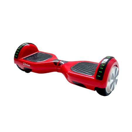 """Ел. ховърборд 2Drive, Колела 6.5"""", Автономия 15 км, Скорост 10 км/ч, Мощност на мотора 500W (2 x 250), Bluetooth, Високоговорител, Чанта за транспортиране, Червен"""