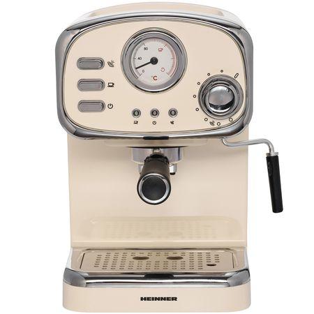 Кафемашина Heinner HEM-1100CR, 1100 W, 15 бара, 1.25 л, Крем