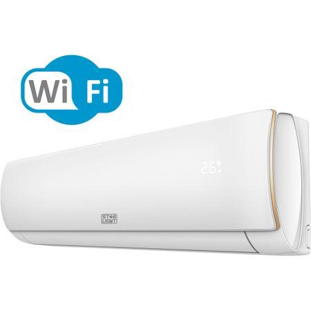 Климатик Star-Light ACT-12EAWF, 3D Air Flow, WiFi контрол, 3D Inverter, 12000 BTU, Функция отопление, Клас A++, Дисплей, Бял