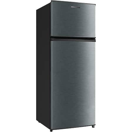 Хладилник с 2 врати Heinner HF-M207DGA+, 204L, LED, 3 стъклени рафта, Клас A+, 146 см, Антрацит