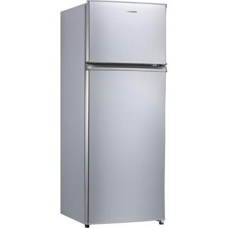 Хладилник с 2 врати Heinner HF-M207SA+, 204 л, Клас A+, LED осветление, Механично управление, H 144 см, Сребрист