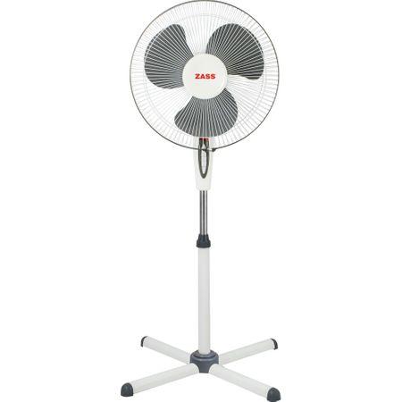 Вентилатор със стойка Zass ZF 1605, 45 W, 3 степени, Диаметър 41 см, Бял