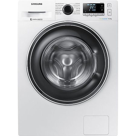 Пералня Samsung WW90J5446EW/LE, 9 кг, Клас A+++, 1400 об/мин, Eco Bubble, Digital Inverter, Diamond Drum, Бяла
