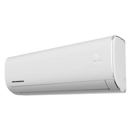 Климатик HEINNER Crystal Wi-Fi 12000 BTU, Клас A++, Функция отопление, Филтър с висока плътност, Follow me, Функция Turbo, R32, HAC-CR12WIFI, Бял