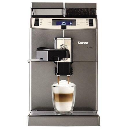 Кафеавтомат Saeco Lirika One Touch Cappuccino, 1850W, 15 bar, Мелачка от инокс, Сребрист