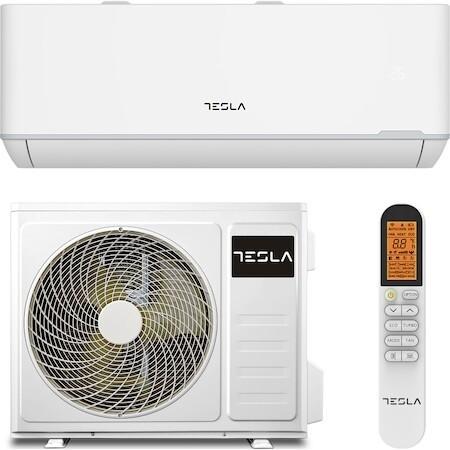 Климатик Tesla TT34TP21-1232IAW, 12000 BTU, Клас A++, Функция за отопление, Функция Turbo, I Feel, Самопочистване, Таймер, Миещ се филтър, Корпус против ръжда, Инвертор, R32, WiFi