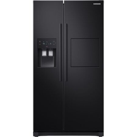 Хладилник Side by side Samsung RS50N3913BC/EO , 501 л, Клас F, Full NoFrost, Компресор Digital Inverter, All Around Cooling, Дисплей, Диспенсър за вода и лед, Черен